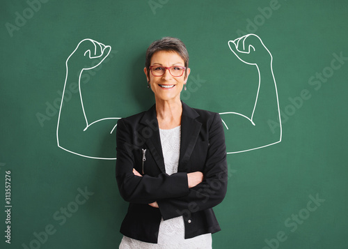 Obraz Portrait of a successful, strong business woman - fototapety do salonu