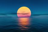 Fototapeta Fototapety z naturą - great sunset over the ocean