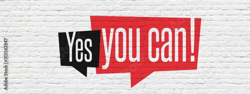 Obraz na plátně Yes you can