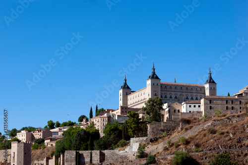 Valokuvatapetti View of the historic Alcazar in the ancient Spanish city of Toledo