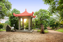 Chinese Gazebo Building On The...