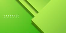 Abstract Modern 3d Green Shape Background
