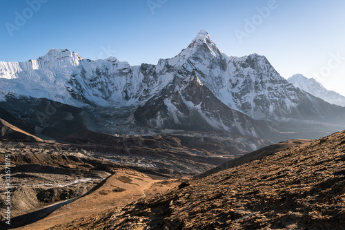 Fotografie, Obraz  Stunning view of the Ama Dablam peak from the Chukung Ri viewpoint on the Everes