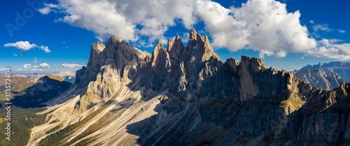 Photo  Seceda in autumn in South Tyrol in the Alps of North Italy