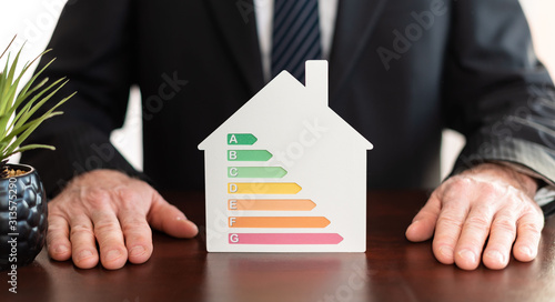 Obraz Concept of home efficiency rating - fototapety do salonu