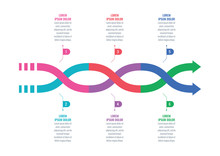 Colorful Arrow Signs Infograph...