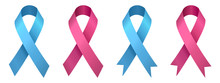 Set Pink And Blue Ribbons, Bre...