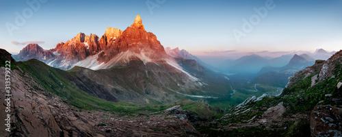 Fotografie, Obraz  Cimon della pala, dolomity mountains, panoramic view of Cimone, el Zimon, Pale d