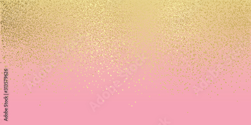 Fototapeta Pink and gold glitter background obraz