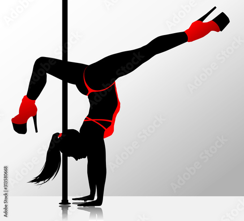 Fototapeta Romantic dancing girl. obraz