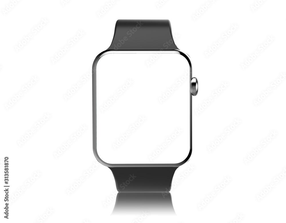 Fototapeta Smartwatch mockup isolated on a white background