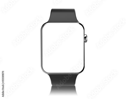 Obraz Smartwatch mockup isolated on a white background - fototapety do salonu