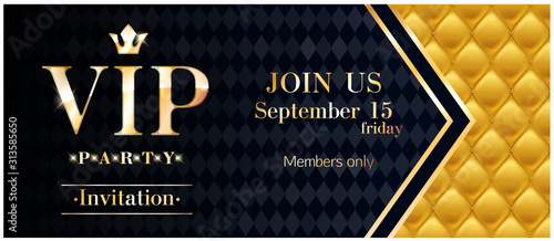 Fotomural VIP club party premium invitation card poster flyer