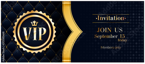 Photo VIP club party premium invitation card poster flyer