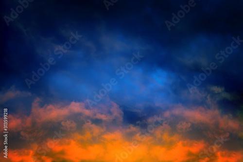 Fototapeta Dramatic Clouds Background obraz