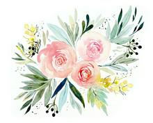 Pattern From Pink Rose. Weddi...