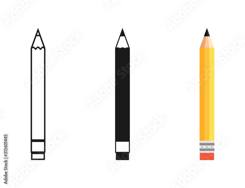 Slika na platnu Pencil in different designs