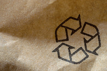 Recycle Symbol Printed On Brow...