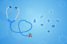 A Stethoscope With A Heart Bea...