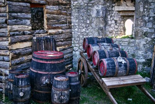 Obraz Barrels and cellar characteristic of peasant life - fototapety do salonu