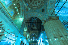 Blue Mosque, Details Of Interi...