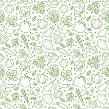 Food Background, Vegetables Se...