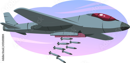Canvas Print bomber jet