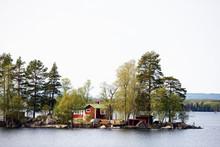 House In The Lake, Sweden, Hälsingland, Norrland,sverige