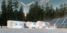 Concept Of Hydrogen Energy Sto...