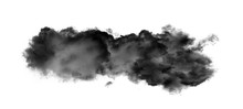 Black Clouds Or Smoke Isolated...