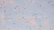 Colorful Balloons Are Flying I...