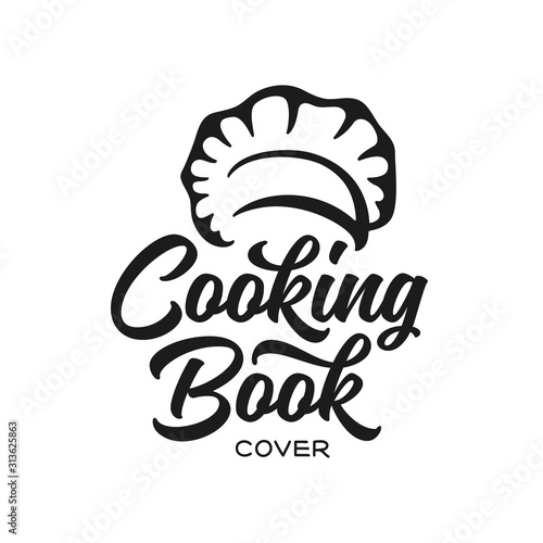 Fototapeta Cooking recipe book calligraphy cover. Vector illustration. obraz