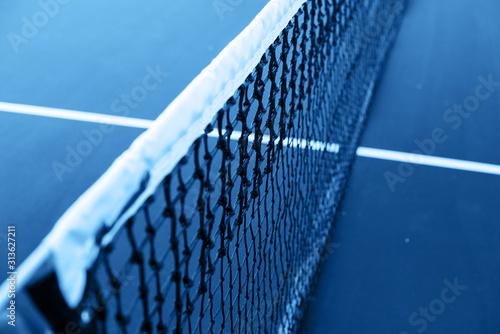 Close-up blue tennis grid toned classic blue color