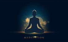 A Person Doing Meditation With Chakra Description.