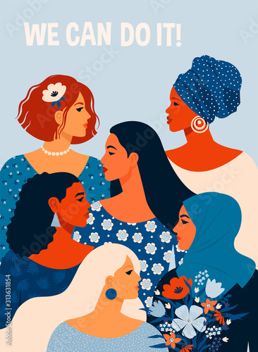 Plakaty do kosmetyczki  we-can-do-it-poster-international-womens-day-vector-illustration-with-women-different-nationalities-and-cultures