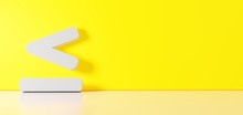 3D Rendering Of White Symbol O...