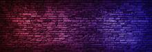 Neon Light On Brick Walls That...