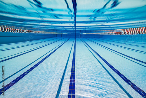 Fototapeta Olympic Swimming pool under water background. obraz