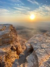 Sunrise In Negev Desert. View ...
