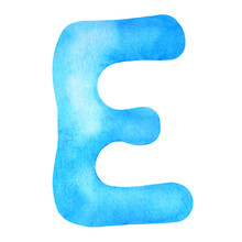 Monogram Letter E Made Of Wate...