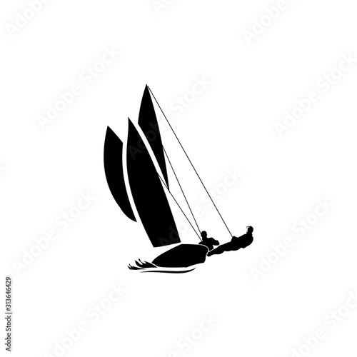 Valokuva Sailboat racing vector
