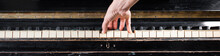 Female Pianist Hands Playing O...