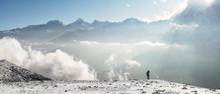 Man At Yak Kharka Camp, Dhaulagiri Circuit Trek, Himalaya, Nepal