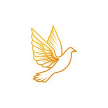 Dove Logo Icon Vector. Abstrac...