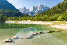 Lake And Mountains Near Kranjs...