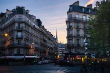 Paris Street At Sunrise, With ...