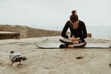 Young Woman Practicing Yoga, M...