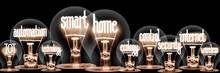 Light Bulbs With Smart Home Concept