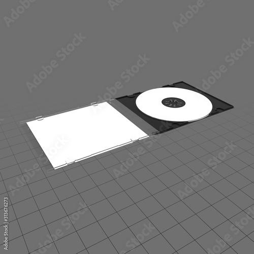 Fototapeta Open CD package obraz