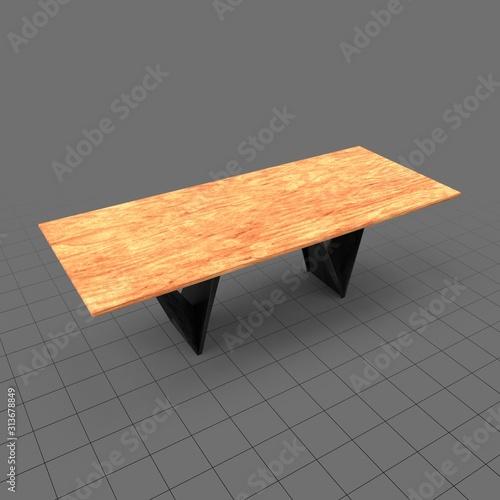 Fototapeta Modern dining table obraz